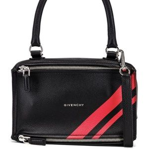 Givenchy Red Stripe Small Pandora Shoulder Bag